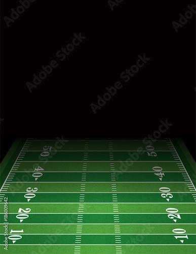 American Football Field Background Template Illustration Stock