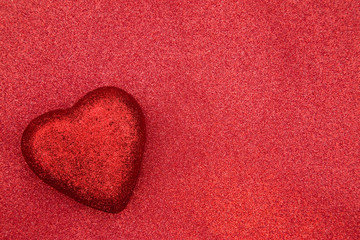 Valentines Themed Background on a Red Glitter