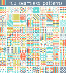100 Vector Pattern. Seamless pattern can be used for wallpaper,  pattern fills, web page background,  surface textures.