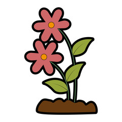 cute flower garden icon