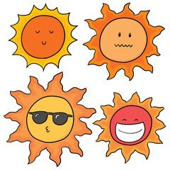vector set of suns
