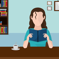 Woman reading design