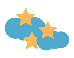 cloud an stars icon