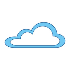 weather cloud isolated icon