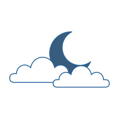 weather cloud with moon