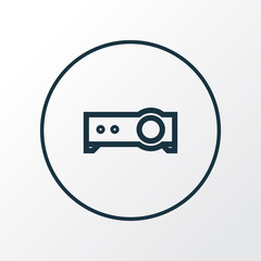 Projector icon line symbol. Premium quality isolated presentation element in trendy style.