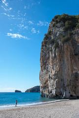 Rocky ridge overhanging the sea
