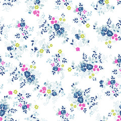cute ditsy rose - seamless fashion print
