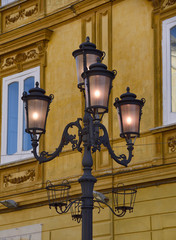 Urban scenary with classic streetlight