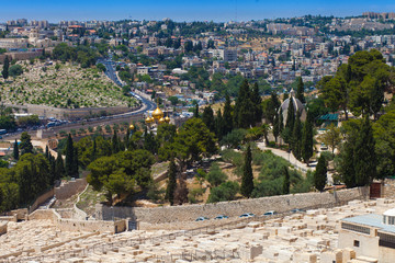 Christian churches on the Mount of Olives