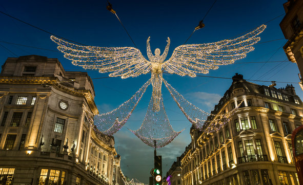 Christmas Lights Display on Regent Street, London