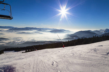 Ski slopes. Slovakia.
