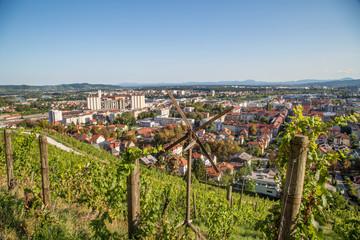 Ausblick und Sehenswürdigkeiten von Maribor, Slowenien