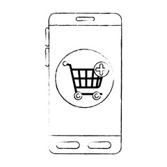 smartphone device with shopping cart