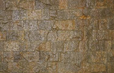 waterfall wall of bricks