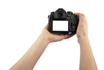 camera in hand