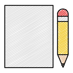 sheet of notebook with pencil icon