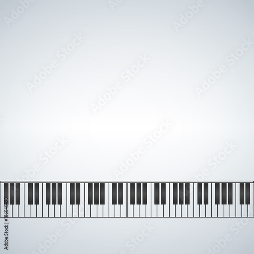 piano template, music creative concept illustration with blank space ...