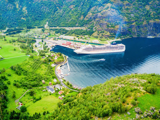 Flam at Sognefjord, Norway