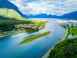 Andalsnes town in Norway