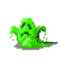 Pixel character alien monster for games and web sites