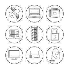 Data center icon set design