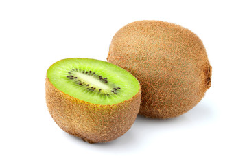 Kiwi fruit closeup isolated.