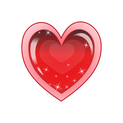 Valentine's Background with Heart. Greeting Card. Vector illustration.