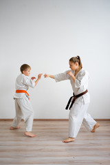 Karate kids training
