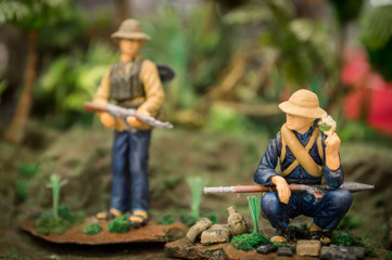SCALE MODEL OF PEOPLE USED IN VIETNAM WAR