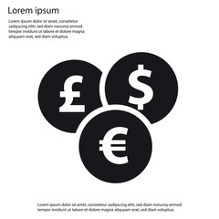 Different Currencies Flat Icon