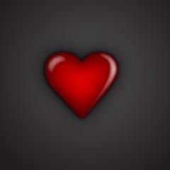 Valentine hearts on black