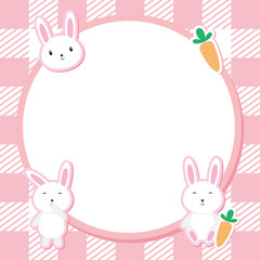 Cute Pink Bunny Frame