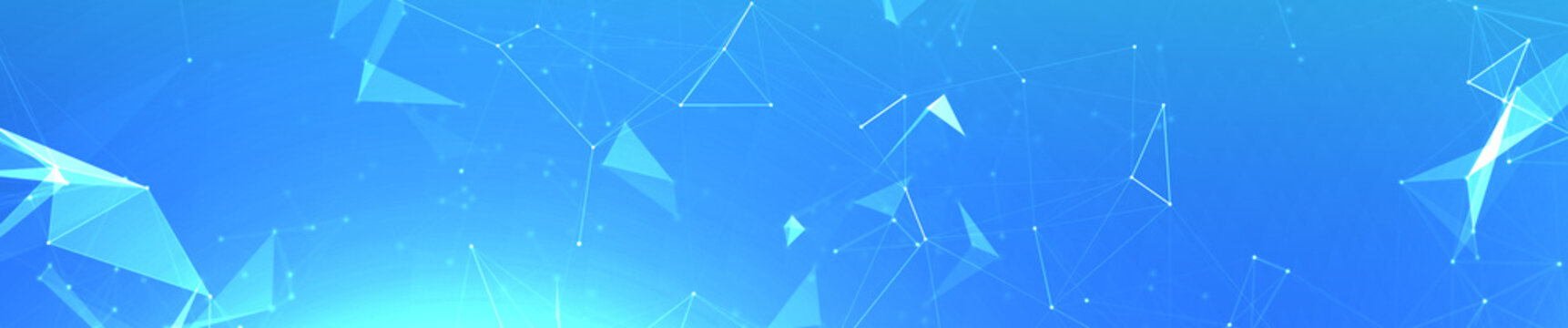 Light blue plexus panoramic hero background