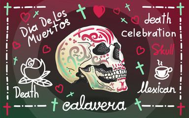 Calavera greeting banner