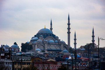 Beautiful Yeni mosque or a New mosque in Istanbul