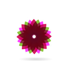 Abstract purple flower icon