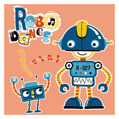 funny robots dance cartoon