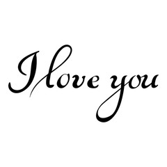 I LOVE YOU hand lettering