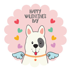 Happy valentines with cute dog