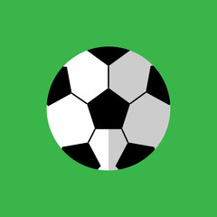 Simple Flat Style Football Sport Vector Illustration Graphic