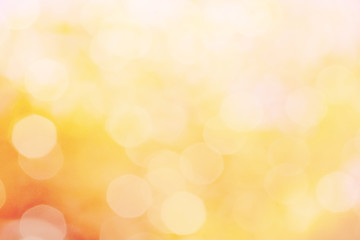 light orange color abstract background withe blurred defocus bokeh light for template