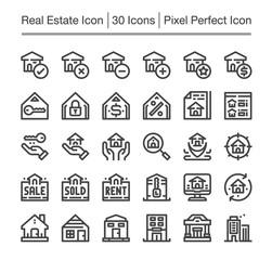 real estate line icon,editable stroke,pixel perfect icon