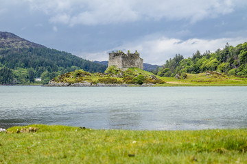 Castle Tioram - a ruined castle on a tidal island in Loch Moidart, Lochaber, Highland, Scotland