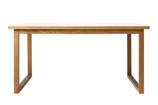 wood table(desk) isolated on the white background