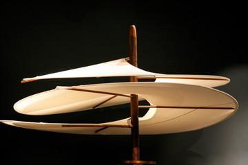 air screw models of Leonardo da Vinci's