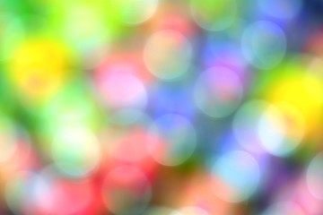 the colorful blurred bokeh bubbles abstract background