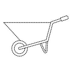 wheel barrow isolated icon vector illustration design