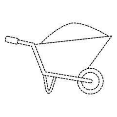 wheel barrow with sand vector illustration design