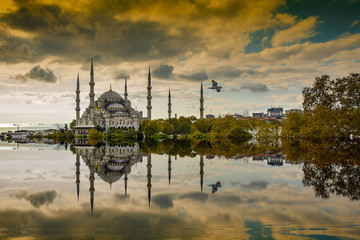 Sultan Ahmed Mosque is a symbol of Istanbul Turkey